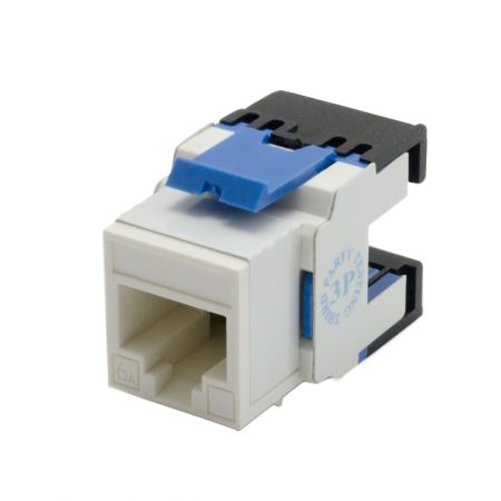 Cat 6A Component Level 180° UTP Punchdown Keystone Jack - Cat 6A180° UTP Punchdown Keystone Jack