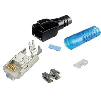 Multi-Piece Type RJ45 Plug for Cat 6A STP Cable - Multi-Piece Type RJ45 Plug for Cat 6A STP Cable