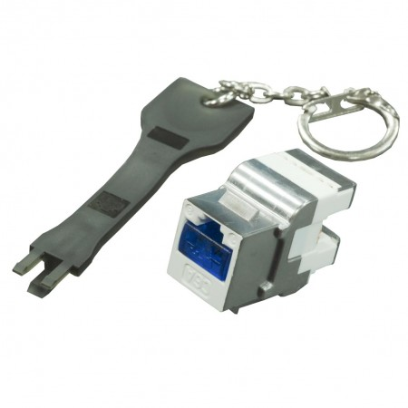 Secured Lock for RJ45 Keystone Jack and Patch Panel - Secured Lock for RJ45 Keystone Jack and Patch Panel